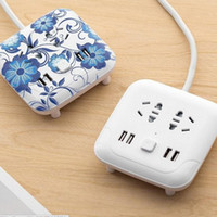 Wholesale hot line phone - 2018 hot Climbing wall usb socket creative desktop smart plug multi-function line card mobile phone charging wiring board safety 5styles