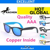 Wholesale protection materials - KaChen 901 902 1001 17 50mm 54mm Plank White Black frame Polarized Glass material lens UV400 protection AAA 1:1 quality sunglasses glasses