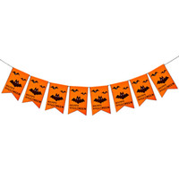 ingrosso decorazione della ghirlanda di halloween-2PC Halloween Bunting Garland Bandiere Bunting Indoor Garden Decorazione esterna Bunting Flags Banner per Festival Party