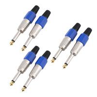 amplificador de cable al por mayor-VBESTLIFE Nuevo conector de cable de 6.35 mm Mono Audio Jack Amplificador Enchufes para micrófono 6.35 Core Cable (2 Sets o 3 Sets Choose)
