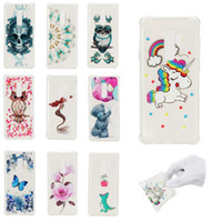 Wholesale iphone skull silicone online – custom For Galaxy S9 S8 Plus A8 NOTE J3 J5 J7 EU Shockproof Soft TPU Case SKull Owl Flower Butterfly Bear Mermaid Cover Four Corner