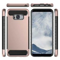 Wholesale Edge Active - For Samsung galaxy s9 plus Galaxy S7 Edge S8 Plus Note 8 Active phone case 2in1 PC+TPU Carbon Stripe Shockproof luxury phone case