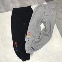 Wholesale Women Fashion Elastic Waist Shorts - Rainbow Lrtter Embroidery Men Women Shorts Pants Luxury Brand Designer Sweatpants Fashion Sport Fitness Casual Street Pants HFYMKZ016