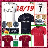 Wholesale jersey ronaldo - 2018 Real madrid Soccer Jersey Ronaldo ISCO ASENSIO football shirt 2018 World Cup Soccer Jersey Portugal RONALDO EDER World Cup Jerseys