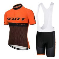 Wholesale riding sport shirt - 2018 NEW Scott Cycling jersey Men short style bike shirt Bib Shorts Set quick dry Bicycle Sport Suit mtb Racing Riding clothes A2302