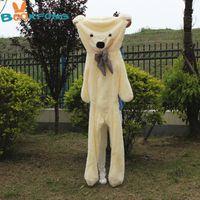 pelúcia de pelúcia gigante ursos pele venda por atacado-200 cm urso de pelúcia pele de brinquedo de pelúcia ursinho de pelúcia casaco gigante de pelúcia brinquedo de aniversário de crianças de natal diy presente