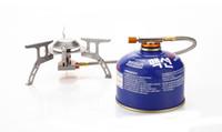 бесплатное охотничье снаряжение оптовых-Портативный открытый кемпинг плита газ питание альпинизмом плита складной Сплит Кукаут туризм охота горелки оборудование бесплатно DHL G669F