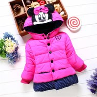 Wholesale girls cute down jackets for sale - Group buy 2018 winter girls small cotton clothes cotton clothes children s clothing Korean version of small children plus velvet jacket