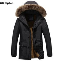 Wholesale winter jacket fur hood mens - 2017 New Thick Warm Mens Winter Parkas Plus Size Casual Padded Mens Jackets And Coats With Fur Hood