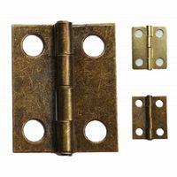ingrosso cerniera in ottone-Wholesale- 1000pcs / lot 18 * 15mm cerniere in ottone bronzo all'ingrosso cerniera scatola di legno piccole cerniere per la decorazione della scatola hardware