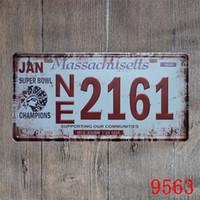 ingrosso disegni della pittura della lettera-Vintage Number Letter Design Ferro dipinto speciale semplice stile Tin Poster Creative casa soggiorno lattine Registrati Decorare 15 * 30cm Z.