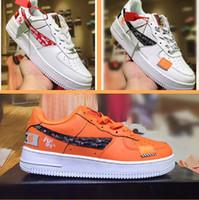 cut shoes al por mayor-2018 nuevos colores de cuero genuino FORCE1 07 clásico bajo corte alto para hombre mujer fuerza zapatillas Forceing one skate Shoes EE. UU. Tamaño 36-45