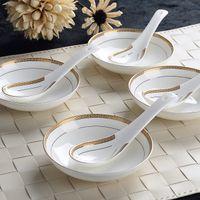 eiscreme chinesisch großhandel-6-teiliges Set, Bone China, Kreatives Design, chinesischer Reislöffel-Set, koreanische Eiskelle, japanischer Suppenlöffel, süße Löffel