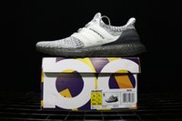 Wholesale fashion cookies - High Quality UltraBoost 4.0 Cookie Cream Running Shoes Men Women Ultra Boost 3.0 Uncaged Primeknit Runner Black White Snow Fashion Sneakers