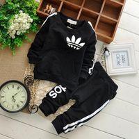 Wholesale boy pieces sport suit resale online - Brand Baby Boys Girls Clothes Sets Autumn Casual Child Clothing Suits Sweatshirts pants Baby Sports Clothes Suits set