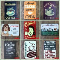Wholesale Decoration Paris - Modern Tin Poster Pub Home Wall Decoration Coffee Tin Sign Paris Cafe Of All Evils 20*30cm Iron Paintings Creative 3 99ljf B