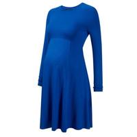 ingrosso abiti da ginocchio gravidanza-Vestiti di maternità di gravidanza di lunghezza del ginocchio della manica lunga di estate della molla per le donne incinte EleSlim Studio Studio dell'abbigliamento