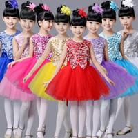 Wholesale Professional Leotards - Professional Tutu Girls Children dance Dress Kids Gown Professional Tutus Dance Leotard Costume skirts with head flowers