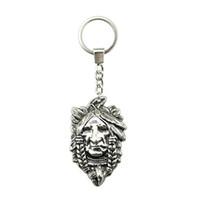 indische paar ringe großhandel-6 Stücke Schlüsselanhänger Frauen Schlüsselanhänger Paar Keychain Für Schlüssel Indian Chief 59x36mm