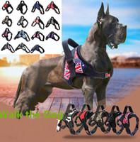 chien tirant des harnais achat en gros de-Gilet chien chien harnais laisse collier défini sans tirer réglable petit moyen grand camouflage XL 15 couleurs