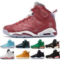 5d972ebb479192 6 6s CNY China Year Men s Basketball Shoes Slam Dunk Pantone GS Pinnacle  green Bugs Bunny mens sports sneakers size 7.0-13