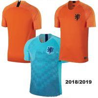 Thai quality 18 19 Netherlands Orange Home Soccer Jerseys Robben SNEIJDER V.PERSIE  MEMPHIS 2018 Holland Away blue Football men shirts 0e4a62ab6