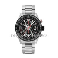 Wholesale watch 45mm - Top AAA Quality Men's Sports Watches 45MM Stainless Steel Luxury Brand VK Quartz Watch Chronograph All Pointers Work