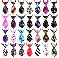 seidenhund großhandel-Einstellbare Haustier Krawatte Hundebindung Katze Krawatten Schöne Adorable Grooming Seide Krawatte Krawatte Haustier Krawatten 200 Stck