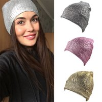 Wholesale Wool Knitted Gilding Hats Delicate Pure Color New Beanie Fashion Man And Women Outdoor Cap Hot Sale yh Ww