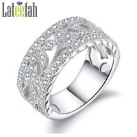 Wholesale Filigree Engagement - whole saleLateefah Vintage Wedding Band Rings for Women Flower Leaf Filigree Silver Color Engagement Ring for Girlfriend Gift Anel Bague
