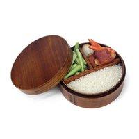 lancheiras japonesas venda por atacado-HCH-Japanese Bento Boxes Lancheira de madeira Sushi Recipiente portátil Recipiente de madeira