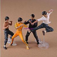 ingrosso accessori per figure d'azione-Vendita calda 4 pz / set Cool Bruce Lee Kung Fu Action Figures Giocattoli da collezione Giocattoli regalo del bambino Accessori del telefono