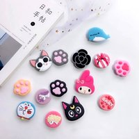 97ac68245 New mobile phone bracket Cute hello kitty air bag Holder Phone Expanding Stand  Finger Holder For iPhone Sakura luna cat phone ring