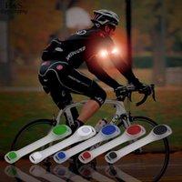 correa de cinturón reflectante de seguridad al por mayor-Deportes al aire libre 5 Color reflectante Cinturón de seguridad Correa del brazo Noche Ciclismo Funcionamiento LED Brazalete Luz caliente