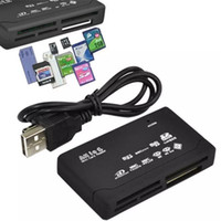 kartenleser xd großhandel-Alle in einem Mini-Speicherkartenleser USB 2.0 Multi in 1 Universal externe SD SDHC Mini-Mikro M2 MMC XD CF MS frei DHL