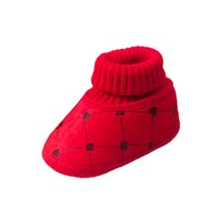 Wholesale infant boots for boys - Children's Winter Shoes Boy Girl Slippers Baby Booties Soft Boots Slip Infant Warm Shoes Boots Footwear For Newborns Sneakers