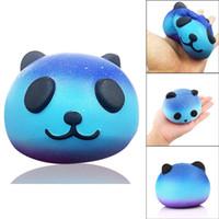 ingrosso jumbo panda bun squishy-Squishy Toys Blue Panda Jumbo Squishies Bun Bear Cat Cielo Slow Rising Food Dhl Spedizione gratuita SQU032