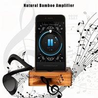 усилители оптовых-Бамбук Подставка для Мобильного Телефона Звуковой Усилитель Динамик Универсальный Многофункциональный Натуральное Дерево Кронштейн для iPhone X 8 7 Plus