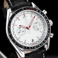 kronometre saatler toptan satış-2018 Tüm Subdials Çalışmak AAA Mens kadınlar Paslanmaz Çelik Kuvars Saatı Kronometre Erkekler için Lüks İzle Üst Marka relogie relojes