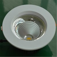 Wholesale high power led recessed downlights resale online - COB W Dimmable High Power Led Downlights Recessed Ceiling downLights With Led Drivers AC85 V