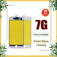 Wholesale iphone middle frame assembly - For iPhone 7 Original Front Touch Screen Panel Outer Glass Lens + Cold Glue Middle Frame Bezel Assembly Replacement Parts For iphone 7G