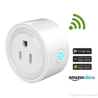 Wholesale power outlet remote control - Wifi Smart Power Plugs Smart Outlet Work with Alexa & Home,Remote Control by Smart Phone with Timing Function from Anywhere No Hub Required