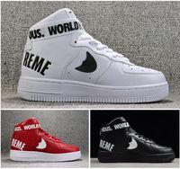 cheap for discount 1ce5f 3c9b2 94 SUP 2018 zapatillas para hombre para mujer de corte alto Skateboarding  sports shoes Pareja rojo negro para aire air brand brand sneaker tamaño  EUR36-45
