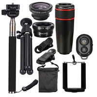 Wholesale smartphone telescope for sale - Group buy 10 in set Smartphone Camera Lens Cell with Clip Universal Optical Telescope Kit Mobile Zoom