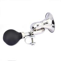 bisiklet döngüsü çanları toptan satış-Açık Spor Sürme Elektronik Olmayan Trompet Loud Bisiklet Bisiklet Bisiklet Çan Vintage Retro Bugle Hooter Hava Horn Bisiklet Aksesuarı