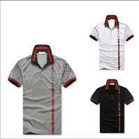 Wholesale Garment Men - Direct selling 8958 # 2018 new men POLO unlined upper garment of high quality men's lapels Fashion embroidery short sleeve T-shirt free ship