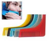 Wholesale hair cutting guide tools - Fashion Facial Beard Shaping Tool For Perfect Lines Cut Template Trim Template Modeling Comb Hair Cutting Guide