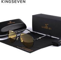 lentes amarillas al por mayor-Mens gafas de sol polarizadas de conducción nocturna hombres diseñador de la marca de lentes amarillas de visión nocturna gafas de conducción gafas reducir el resplandor