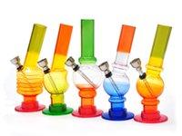 verdrehte wasserleitung großhandel-1 X Acryl Bongs Wasserpfeife Shisha Wasserpfeife Tabakpfeife Twist Bubble Wasserpfeife Bongs Alle Designs