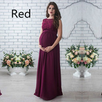 1f034fae2d23b SMDPPWDBB Lace Maternity Dresses Maternity Photography Props Women Long  Maxi Dress Sexy Gown Lace O-Neck Pregnancy Dress Clothes